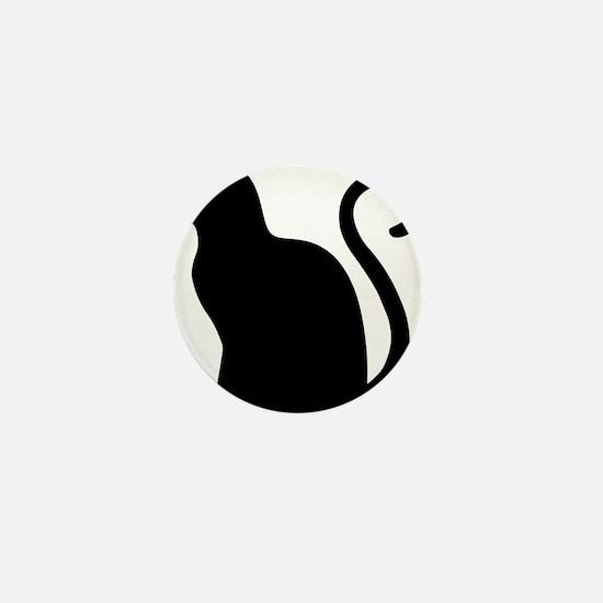 Black Cat Silhouette Mini Button (10 pack)