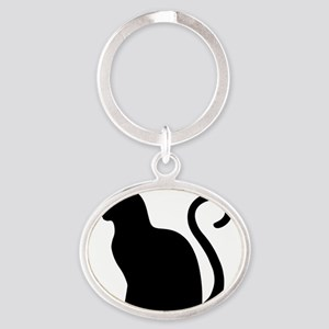 Black Cat Silhouette Keychains