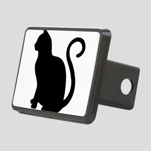 Black Cat Silhouette Rectangular Hitch Cover