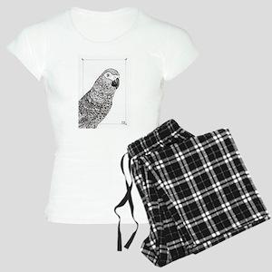 African Grey Zentangle Women's Light Pajamas
