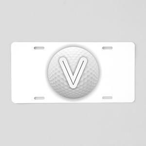 V Golf Ball - Monogram Golf Aluminum License Plate