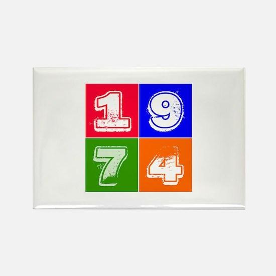 1974 Birthday Designs Rectangle Magnet