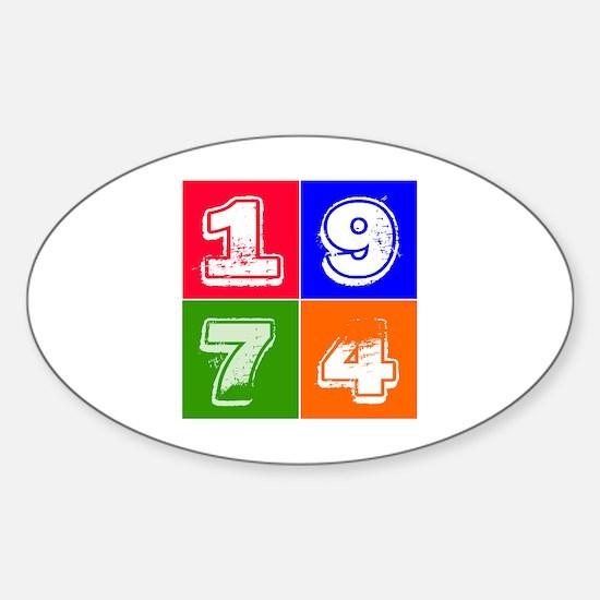 1974 Birthday Designs Sticker (Oval)
