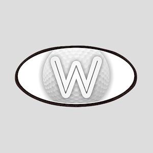 W Golf Ball - Monogram Golf Ball - Monogram Patch