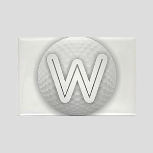 W Golf Ball - Monogram Golf Ball - Monogra Magnets
