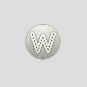 W Golf Ball - Monogram Golf Ball - Mon Mini Button