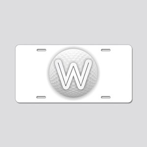 W Golf Ball - Monogram Golf Aluminum License Plate