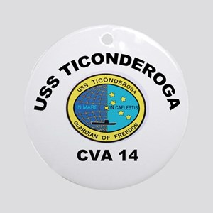 USS Ticonderoga CV 14 Ornament (Round)