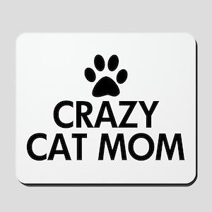Crazy Cat Mom Mousepad