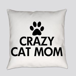 Crazy Cat Mom Everyday Pillow