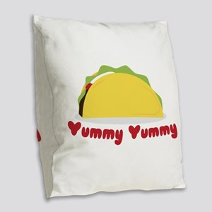 Yummy Yummy Burlap Throw Pillow