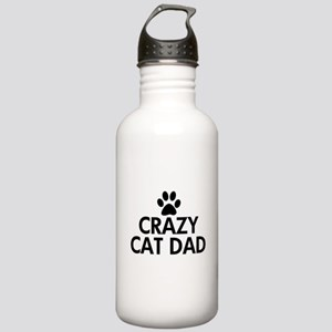 Crazy Cat Dad Stainless Water Bottle 1.0L