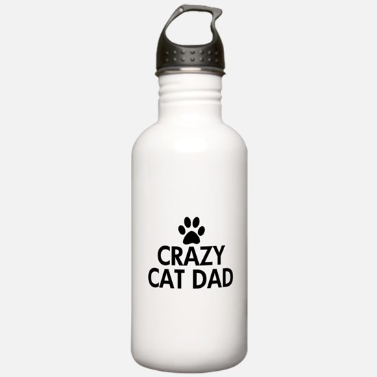 Crazy Cat Dad Water Bottle
