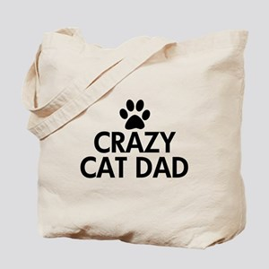 Crazy Cat Dad Tote Bag