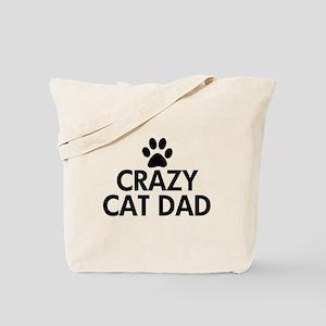 Crazy Cat Dad Tote Bag