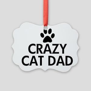 Crazy Cat Dad Picture Ornament