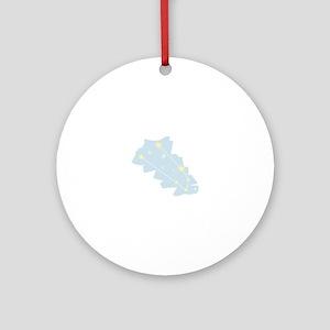Taurus Constellation Round Ornament