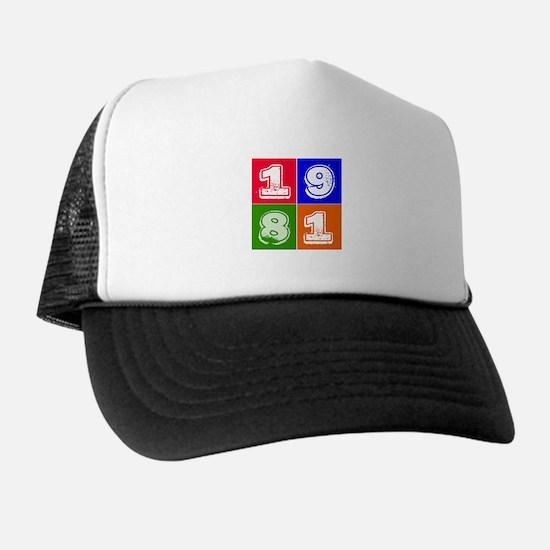 1981 Birthday Designs Trucker Hat