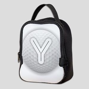 Y Golf Ball - Monogram Golf Bal Neoprene Lunch Bag