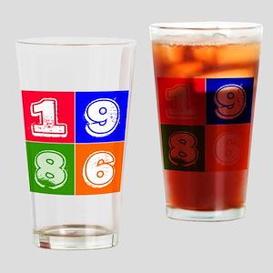 1986 Birthday Designs Drinking Glass