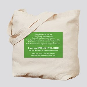 I Will Find You - Commas Tote Bag