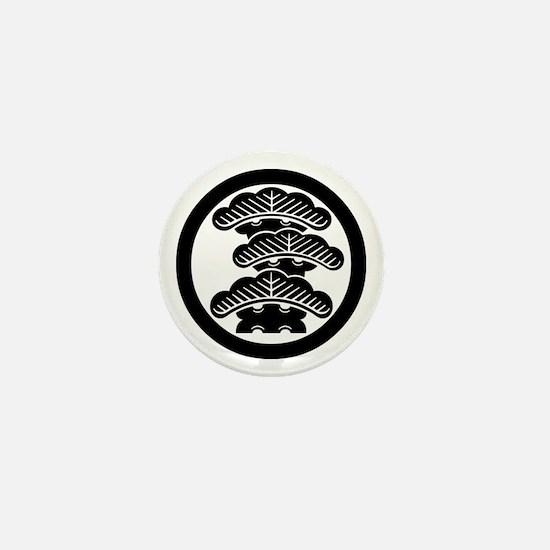 Three-tiered pine R in circle Mini Button