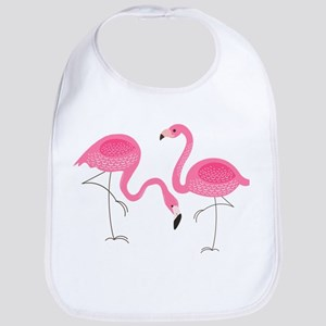 Cute air Of Pink Flamingos Bib
