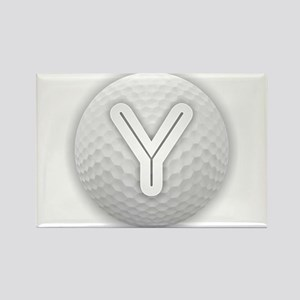 Y Golf Ball - Monogram Golf Ball - Monogra Magnets