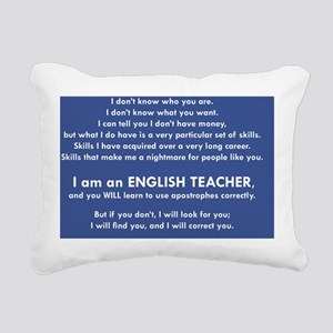 I Will Find You - Apostr Rectangular Canvas Pillow