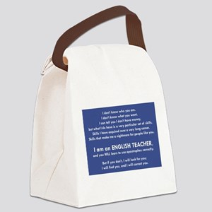 I Will Find You - Apostrophes Canvas Lunch Bag