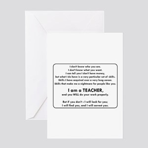 I Will Find You - Do Your Work Prop Greeting Cards