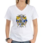 Quinto Family Crest Women's V-Neck T-Shirt