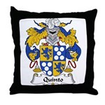 Quinto Family Crest Throw Pillow