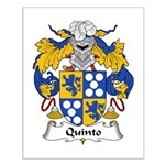 Quinto Family Crest Small Poster