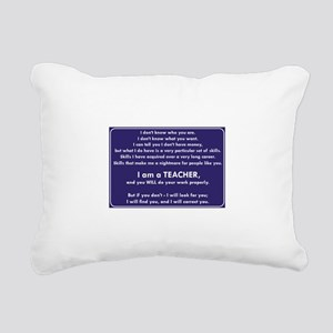 I Will Find You - You Wi Rectangular Canvas Pillow