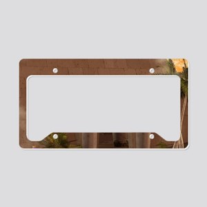 Pyramid in the sunset License Plate Holder