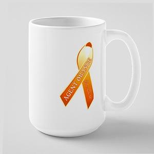 We Care Orange Ribbon Large Mug Mugs