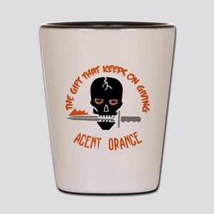 Agent Orange Shot Glass