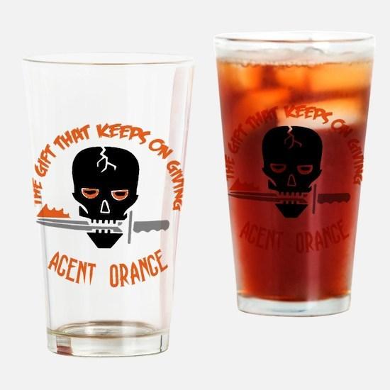 Agent Orange Drinking Glass