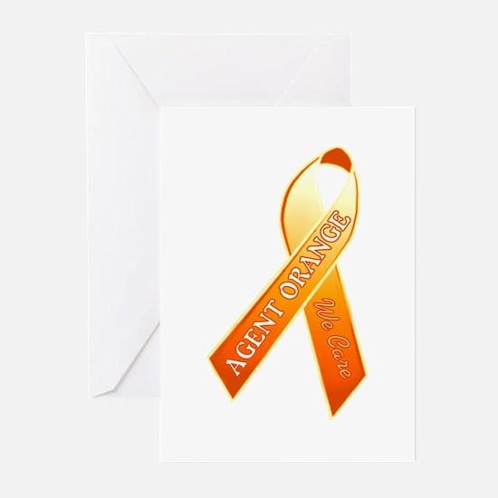We Care Orange Ribbon Greeting Cards (Pk of 10)