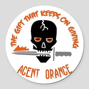 Agent Orange Round Car Magnet