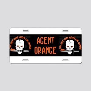 Agent Orange Aluminum License Plate