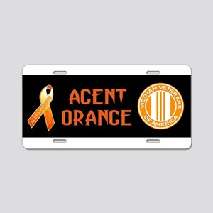 VVA Orange Aluminum License Plate