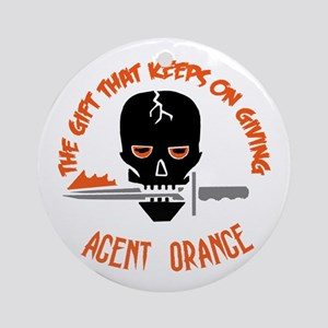 Agent Orange Round Ornament
