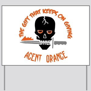 Agent Orange Yard Sign
