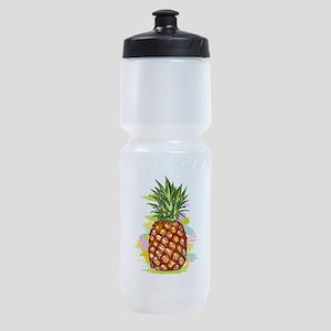Cute PineApple Illustration Sports Bottle