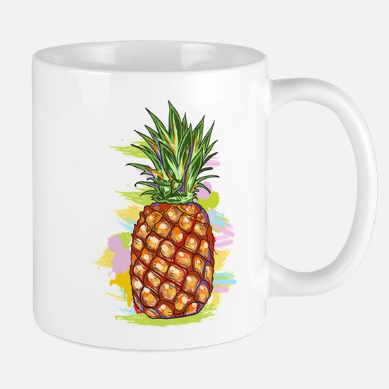 Cute PineApple Illustration Mugs