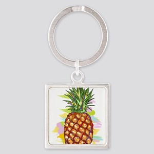 Cute PineApple Illustration Keychains