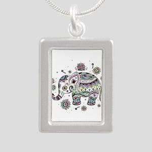 Cute Pastel Colors Floral Elephant Necklaces