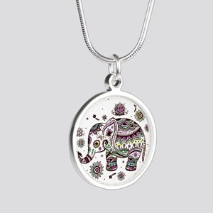 Cute Pastel Colors Floral Elephant Necklaces